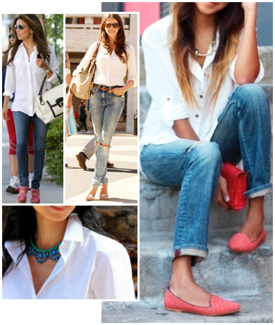 Styling a white-button up