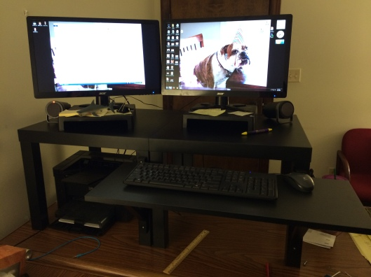 My DIY Ikea Stand Up Desk